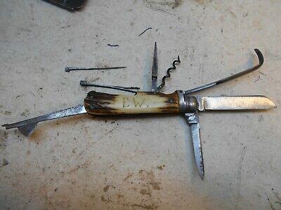 vintage Bradford Sheffield survival camping pocket knife