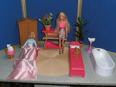 LOT OF BARBIE GUEST BEDROOM & BATH FURNITURE & ACCESSORIES!