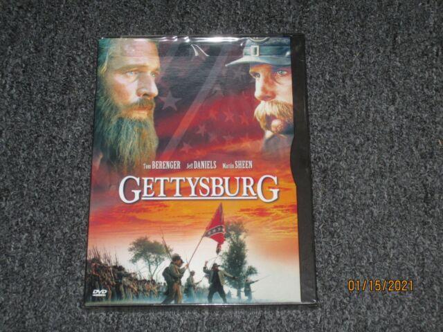 Gettysburg (DVD 2000) Tom Berenger, Jeff Daniels, Martin Sheen - Summer 1863 NEW