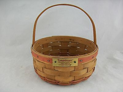 Longaberger 1985 Cookie Basket Red Christmas - Christmas Cookie Basket