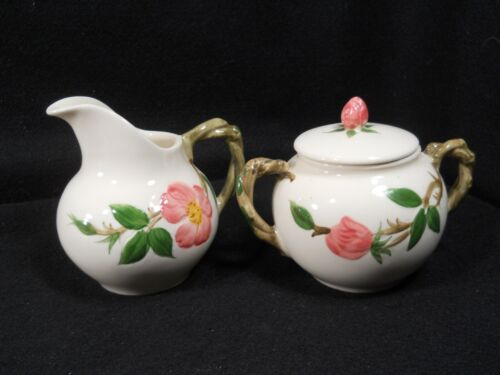 Franciscan Desert Rose Creamer and Sugar Bowl w/lid (USA 1953-1958)