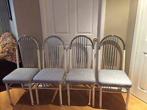 4 solid metal kitchen chairs