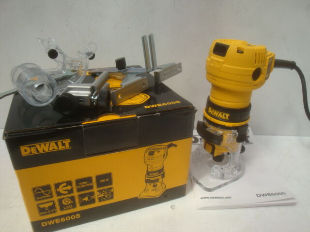 BRAND NEW DEWALT DWE6005 600W ROUTER LAMINATE TRIMMER 110V + DIAMOND CREDIT CARD