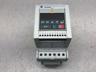 Used Allen Bradley 3 Hp 200-230 Vac 12 Amp 0-240 Hz Frequency Drive 160-aa12nsf1