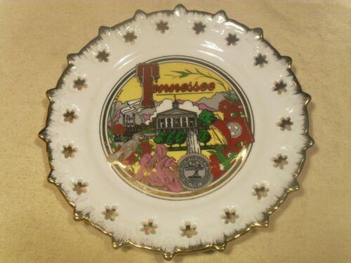 "Vintage Tennessee Souvenir Collector Plate w/ Gold Trim 8 ½"""