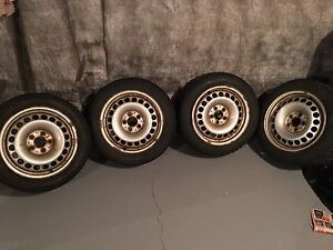 Snow tires with rims  205/55 /16