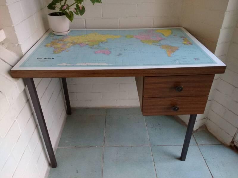World map student desk desks gumtree australia inner sydney world map student desk gumiabroncs Gallery