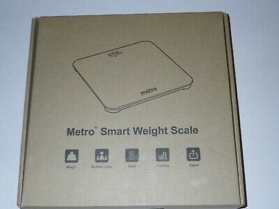 Metro-Scales Digital Bathroom Scale for Body Weight, Bluetooth Smart Weight