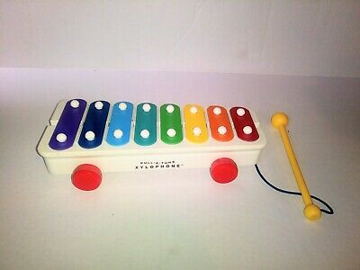 Vintage 1985 Fisher Price Xylophone Pull A Tune Musical