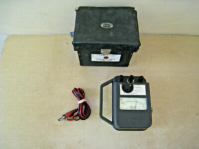 James G. Biddle 21159 Major Megger Tester W Leads And Case Free Shipping