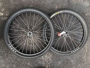 "24"" Aluminum MTB Rims and Tires + 2 used Tires"
