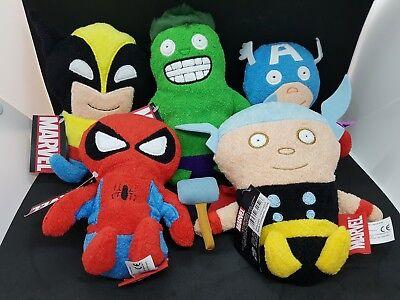 Marvel Footzeez Plush Figures - Captain America Hulk Wolverine Thor Spiderman
