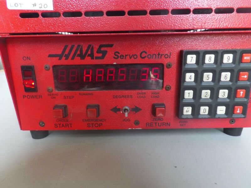 HAAS CONTROL BOX SOFTWARE-36 BRUSH 17 PIN ROTARY TABLE INDEXER LOT #20