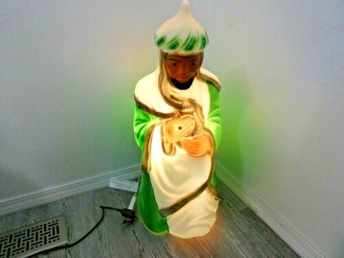 "Vintage General Foam Plastic Blow Mold Wise Man Christmas Nativity Blow Mold 28"""
