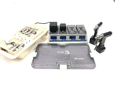 Stryker Cd3 Cordless Complete Set With Battery And System 6 Battery Charger