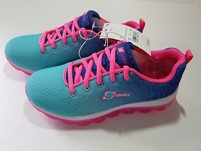 Skechers S Sport Girls Performance Athletic Shoes -All Clear Aqua & Pink - NWT](All Girls Shoes)