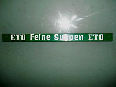ETO Feine Suppen ETO original Blechschild vom Verkaufsregal aus Tante Emma Laden