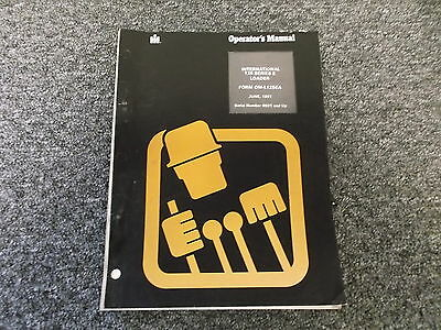 Ih International Harvester 125e Crawler Track Loader Owner Operator Manual