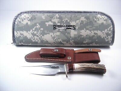 CUSTOM RANDALL FIXED BLADE KNIFE #27 WITH SHEATH & CASE