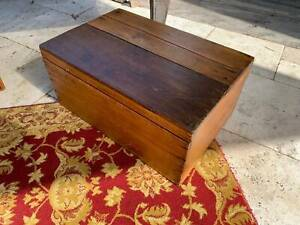solid timber foot stool or toy box or chest