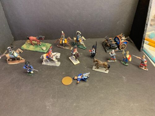 Odd Lot Vintage Lead Soldiers, Knights, Horses, Napoleon, 4-Horse Chariot, etc.