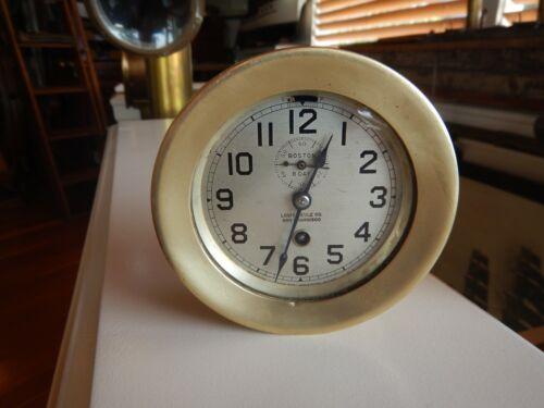 """Chelsea 1925 Ships Clock 3 1/2"""" Boston Clock Co. Louis Weule"""