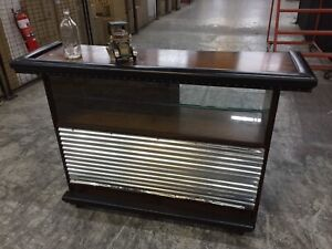 Vintage 1970s bar with display section