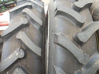 Two John Deere H 9.5x32 4 Ply Rear Tractor Tires 2 400x15 3 Rib Wtubes