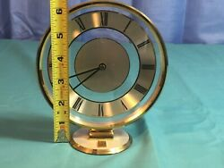 GE Employees Only! Quartz Small Desk Clock West Germany Battery Operated Roman