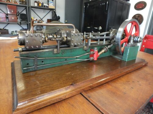 Rare Tandem Compound Horizontal Steam Engine