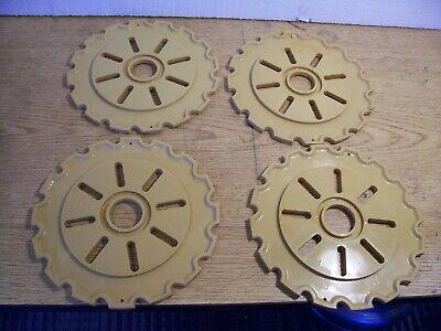 4 Plastic Lustran Ih Planter Plates C150-16 Brown Lot K
