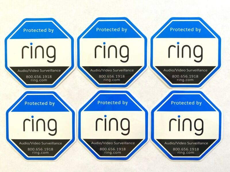 6x Ring Doorbell Sticker Decal Video Security Cam Door Window Sticker Pack