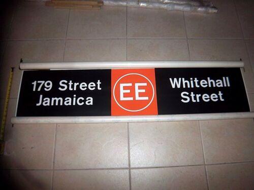 NY NYC SUBWAY ROLL SIGN EE LINE WORLD TRADE CENTER FULTON BROOKLYN 179 JAMAICA