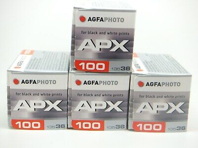 4 x AGFA APX PROFESSIONAL100 35mm 36exp CHEAP B&W FILM By 1st CLASS ROYAL MAIL