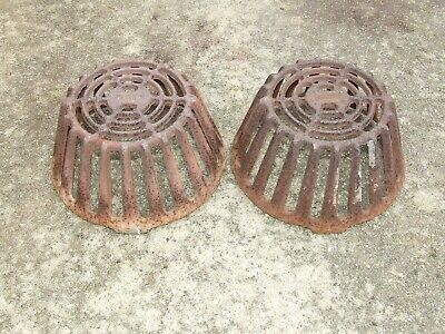 2 Wade Cast Iron Drain Dome Industrial Roof Drain Grate W-3600-d Metal Art