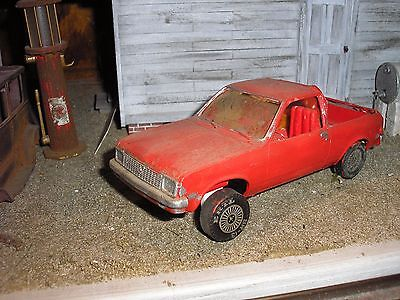 1970 Chevy Pickup Parts (1/24 Custom 1970's Chevy Chevette Red for Junkyard Hauler Pickup diorama parts )