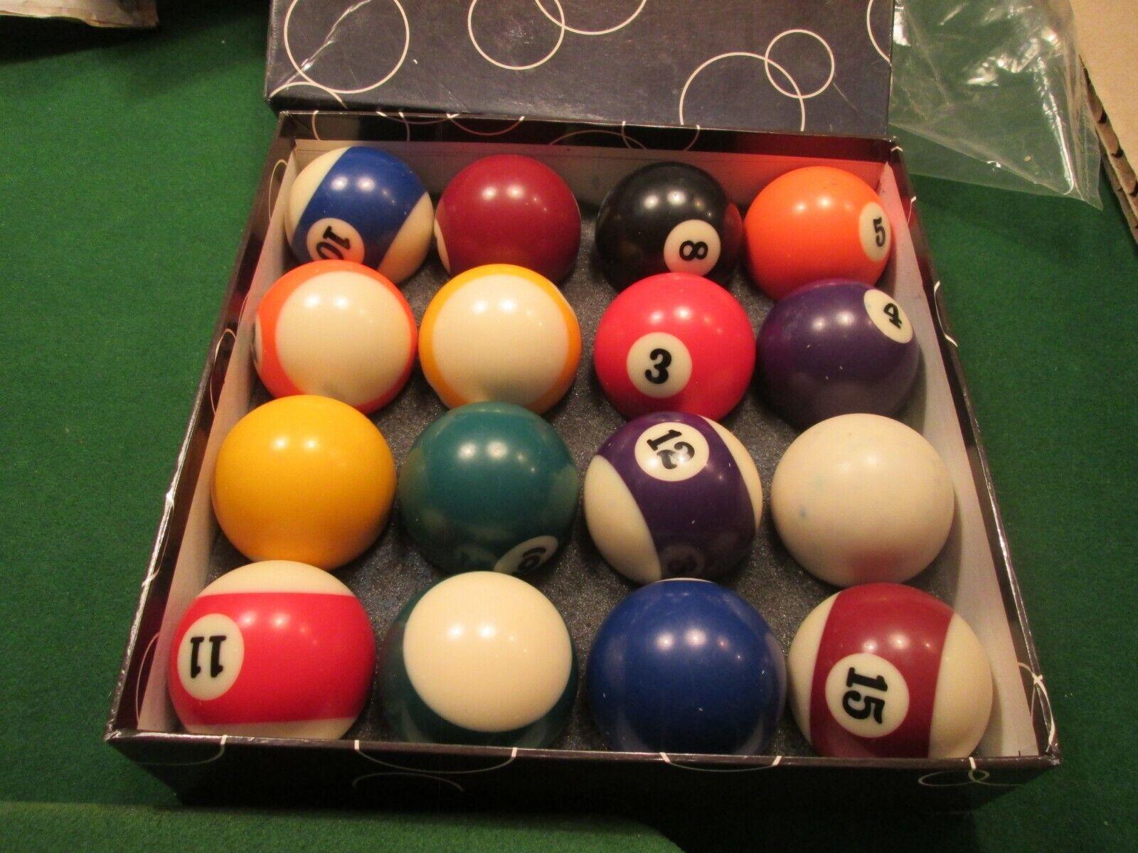 American Pool Balls Spots and Stripes 57 mm