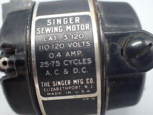 Vintage 1950 Singer 221 Featherweight AJ811268 3-120 MOTOR Tested