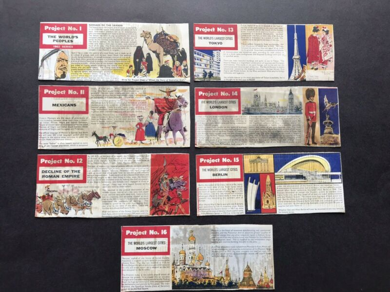 Vintage Kelloggs Cereal Project Panels The World's People Cities Roman Empire
