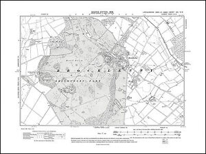 Brocklesby 1908 - old map Lincolnshire 21NW repro