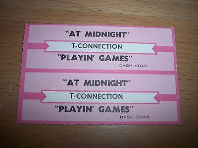 """2 T-Connection At Midnight Jukebox Title Strip CD 7"""" 45RPM Records"""