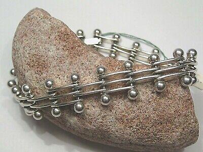 Sterlingsilber 925) Kostüm Perlen Link Armband von Mexiko - Kostüme Von Mexiko