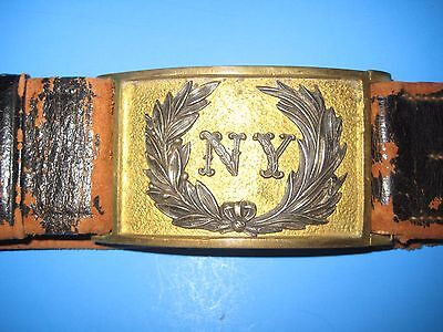 RARE NY OFFICERS BELT PLATE