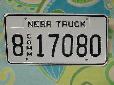 8 17080 = 2000`s Nebraska Comm Truck license plate     $4.00 Shipping In The US