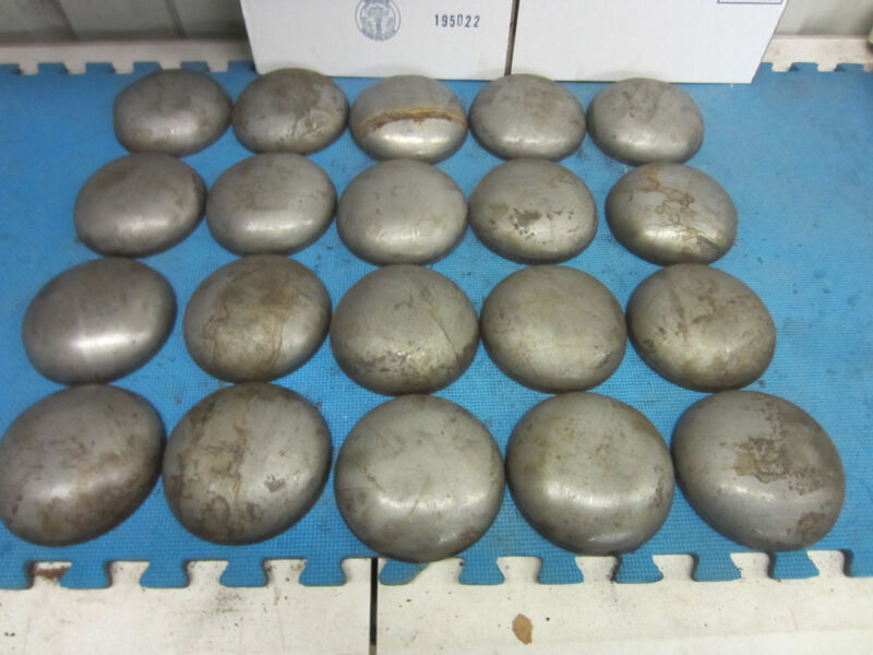 Pipe Caps:  steel, domed, weld on size 5-1/2  inch Outside Diameter. Lot of 4