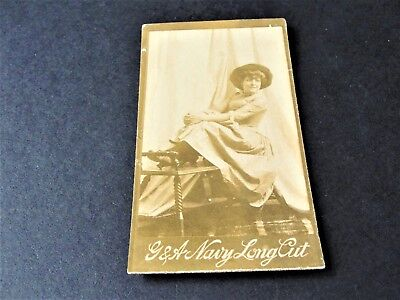 Antique G.W. Gail & Ax's Navy Tobacco Card with black & white image of lady. , used for sale  Macedonia