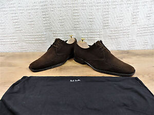 PAUL-SMITH-Hombre-Marron-Ante-Zapato-Oxford-Cuenta-Con-MADE-UK-8-US-9-EU-42