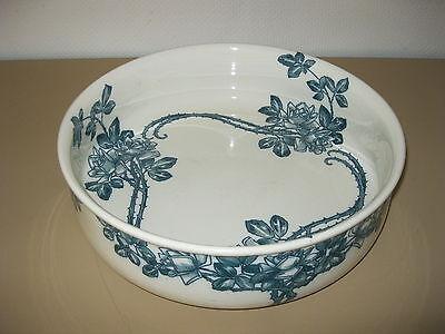 XXL Utzschneider Sarreguemines Saargemünd Keramik Waschschüssel Schüssel Rosine