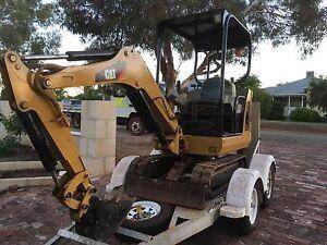 Caterpillar Mini Excavator 301.8C and Trailer Northam Northam Area Preview