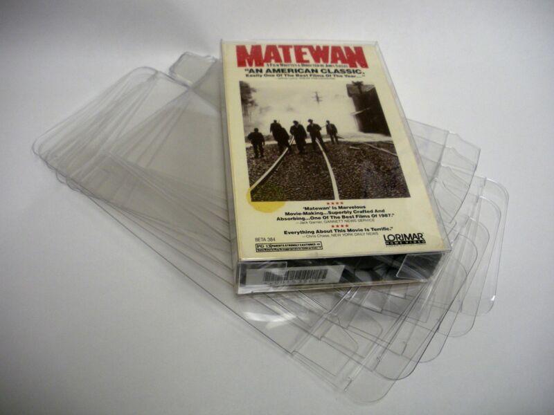 10 Clear Betamax Movie Cassette Box Protectors - Custom Fit - Acid-Free!